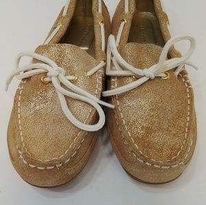 Cole haan glitter boat shoes